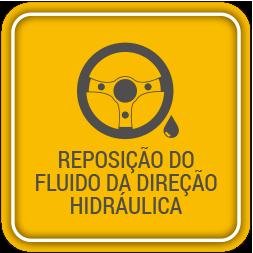 Reposição do fluido da direção hidráulica
